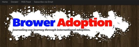 Adoption Blog for Brower Family